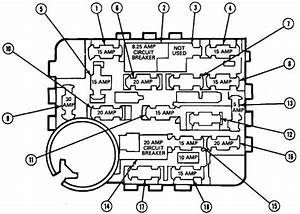 Ford Tempo  1984 - 1994  - Fuse Box Diagram