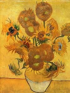Still Life - Vase with Fifteen Sunflowers - van Gogh ...