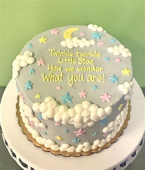 Twinkle Little Star Gender Reveal Layer Cake – Classy Girl ...