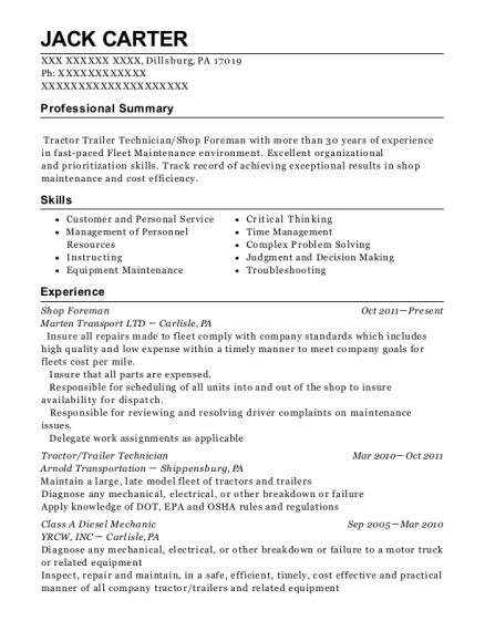 Shop Foreman Resume by Pro Siding Foreman Resume Sle Pleasant Hill