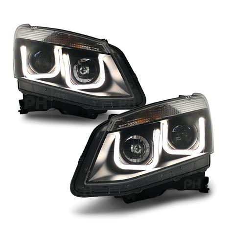 isuzu  max dmax ute   pair lhrh  style black projector head light  aftermarket