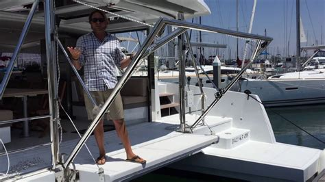 Dinghy Catamaran Sailboats For Sale by Bali 4 3 Sailing Catamaran Davit System For A Dinghy By