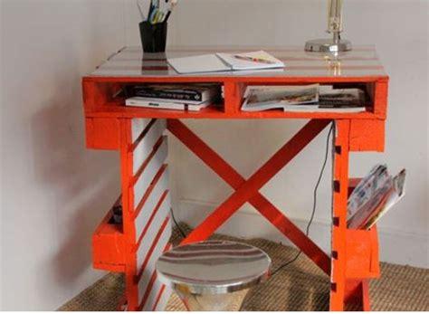 bureau palette comment faire un bureau en palette