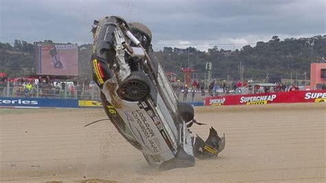 supercars bathurst  driver escapes spectacular