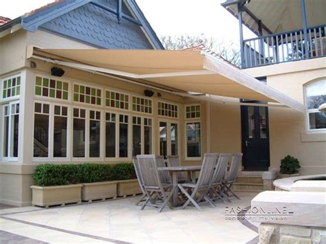 details  outdoor motorised folding arm awning sun shade      retractable