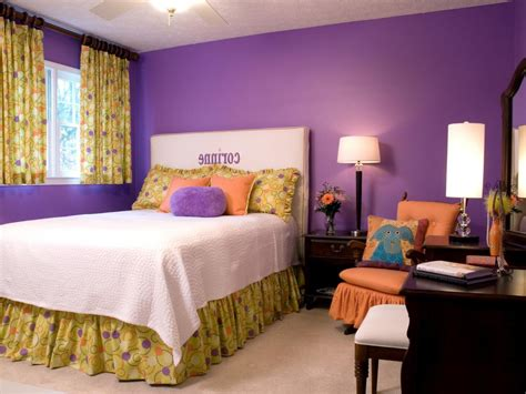 purple paint colors for bedroom home combo