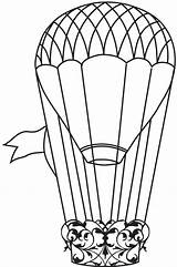 Balloon Air Balloons Coloring Printable Templates Clip Template Doodle Ballon Reference Drawings Stamp Steampunk Printables Clipart Stamps Pages Clipartpanda Montgolfiere sketch template
