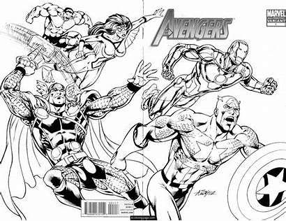 Marvel Coloring Pages Avengers Printable Everfreecoloring