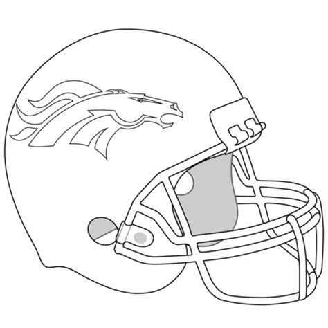 coloriage casque de broncos de denver coloriages