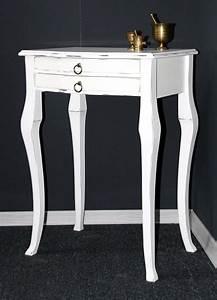 Beistelltisch Weiß Vintage : massivholz beistelltisch konsolentisch wandtisch holz massiv wei vintage ~ Yasmunasinghe.com Haus und Dekorationen