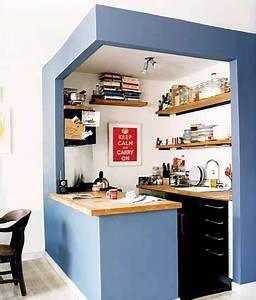 Espace de rangement sur les murs d39une petite cuisine for Optimiser une petite cuisine