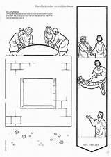 Jesus Sunday Paralyzed Bible Roof Crafts Through Craft Lowered Preschool Heals Coloring Children Activities Religionsunterricht John Kindergottesdienst Lessons Bibel Samaritan sketch template