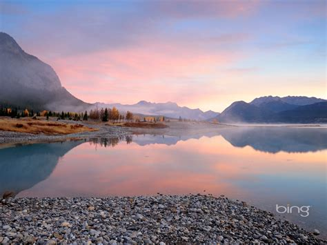 tranquil lake landscapes september  bing wallpaper