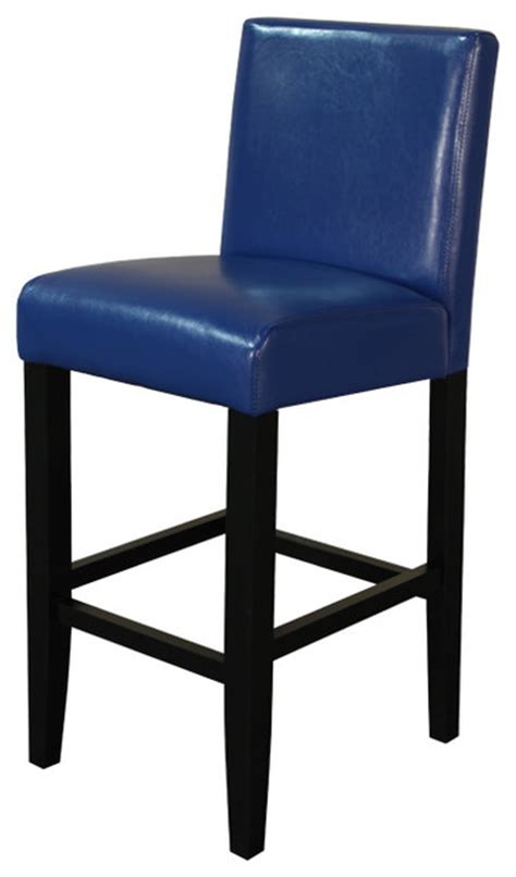 villa faux leather counter stool blue set of two