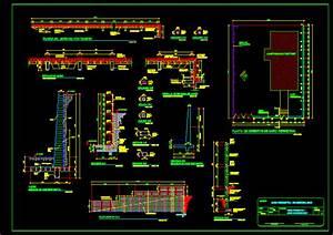 Planos de Diseño de muro de contención en DWG AUTOCAD