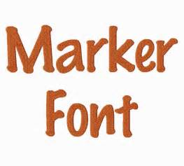Marker Machine Embroidery Font
