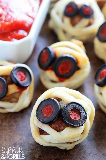 Halloween Recipes Meatball Appetizers Fun Mummies Appetizer