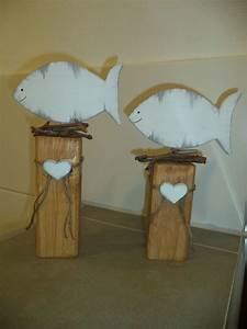 Fische Aus Holz : holzpfosten deko fische neu kommunion holz holzpfosten und basteln mit holz ~ Buech-reservation.com Haus und Dekorationen