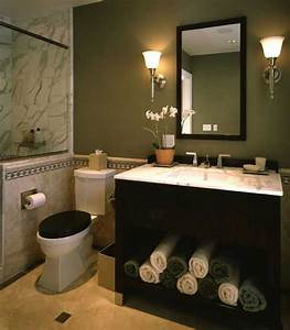 elegant powder room with black vanity marble tile sage With kitchen cabinet trends 2018 combined with world map wall art framed