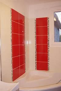 Faience rouge salle de bain solutions pour la decoration for Faience rouge salle de bain