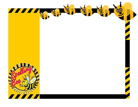 spelling bee certificate clip art invitation templates