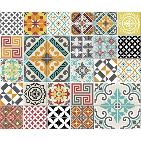 stickers carreaux cuisine 30 stickers carreaux de ciment azulejos lautaro cuisine