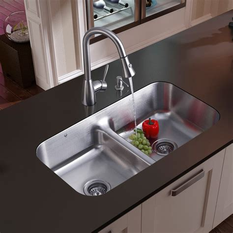 undermount kitchen sink vigo industries vg15046 33 inch undermount bowl 6526