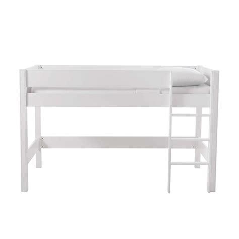 lit mezzanine enfant 90 x 190 cm en bois blanc tonic
