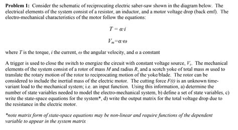 Solved Problem Consider The Schematic Reciprocating