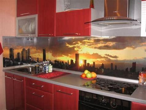 contemporary backsplash ideas for kitchens colorful glass backsplash ideas adding digital prints to