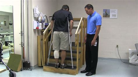surgery knee crutches hip ankle using