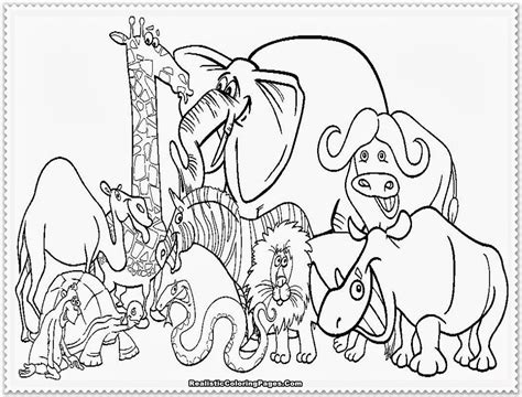 Zoo Animal Coloring Pages Realistic Coloring Coloring