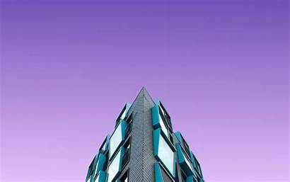 Purple Sky Building Architecture Minimal Fhd Widescreen