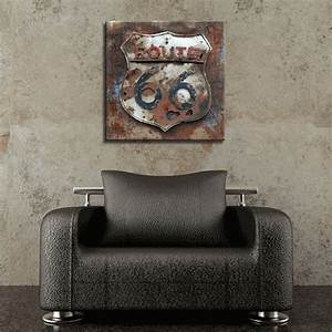 rusted route 66 metal wall art With kitchen cabinets lowes with route 66 metal wall art