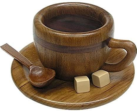 Spinning top coffee cup (top05) retail price$62.00stock status : Coffee Cup Trick Puzzle Box by Akio Kamei - Puzzle Box World