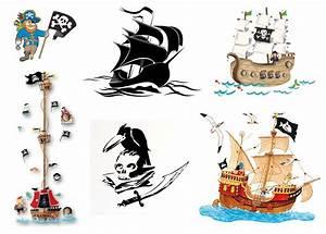 Piraten Deko Kinderzimmer : wandtattoo pirat auf piratenschiff f rs kinderzimmer ~ Frokenaadalensverden.com Haus und Dekorationen