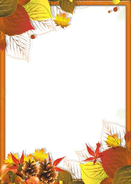 transparent fall png frame leaves gallery yopriceville high