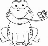 Frog Eating Fly Tree Clipart Transparent Eat Clip Template Outline Coloring Tongue Cartoon Cliparts Cummins Pluspng Animal Pintar Toad Dibujos sketch template