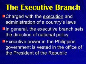executive branch of the government of the philippines