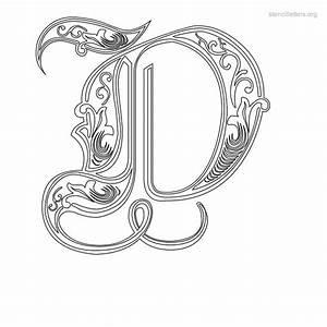 stencil letters d printable free d stencils stencil With decorative letter d
