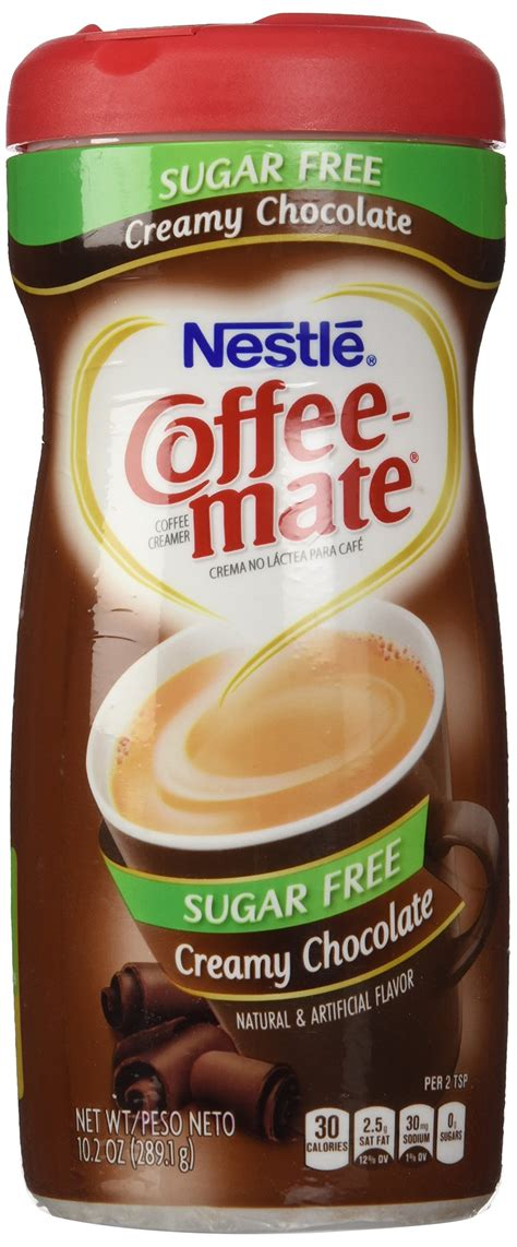 The sweet flavor of brown sugar and cream in your coffee. Nestle Coffee Mate Sugar Free Powdered Creamer Chocolate ...