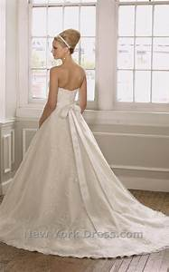 wedding dress with bow back With wedding dress with bow on back