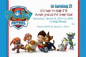 Mom39s tot school paw patrol puppy party for Paw patrol invitation ideas