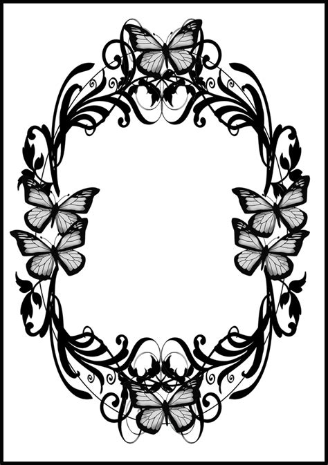 butterfly border black and white butterfly border clipart