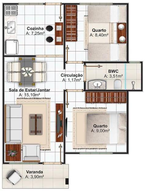 plano de casas economica de dos dormitorios   metros