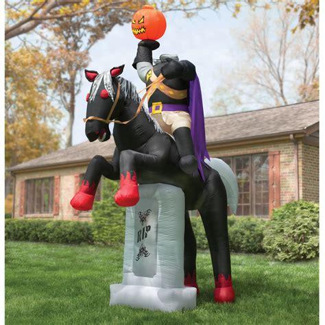 the 12 inflatable headless horseman hammacher schlemmer