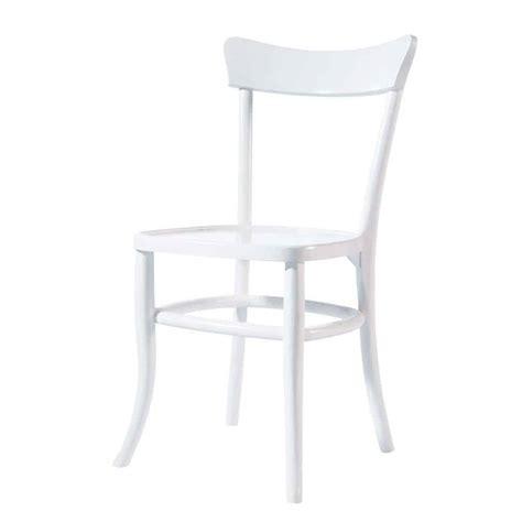 chaise de bistrot blanche chaise en bois massif blanche bistrot maisons du monde