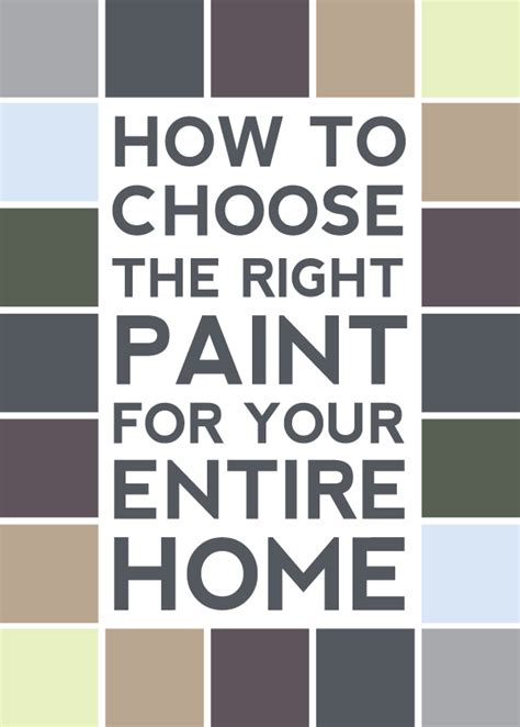 picking paint colors for entire house distance loving