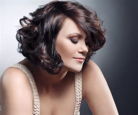 Short Curly Stacked Bob Hairstyles Anny