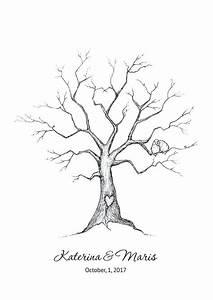 wedding tree guest book free template - fingerprint trees templates